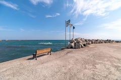 Monolithos beach - Aegean sea - Santorini island - Greece. View of Monolithos beach - Aegean sea - Santorini island - Greece stock photography