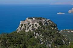 Monolithos castle Stock Images