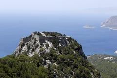 Monolithos Castle on Rhodes Royalty Free Stock Photo
