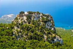 Monolithos Castle Rhodes Royalty Free Stock Photography