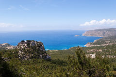 Monolithos fortress Stock Photography