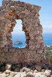 Monolithos fortress Stock Images