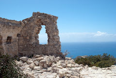 Monolithos fortress Royalty Free Stock Photo