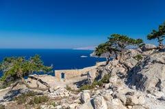Monolithos, o Rodes Fotografia de Stock Royalty Free