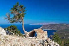 Monolithos Rhodes Fotografering för Bildbyråer