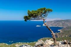 Monolithos, Rhodes Obrazy Royalty Free