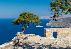 Monolithos, Rhodes. Ruin of Monolithos Castle, Rhodes, Greece Royalty Free Stock Photos