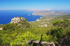 Monolithos, Rhodes Stock Photos