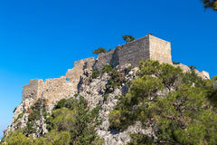 Monolithos, Rhodos Royalty-vrije Stock Foto's