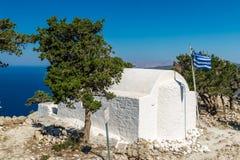 Monolithos, Rhodos Stock Afbeelding