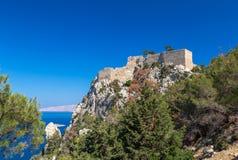 Monolithos, Rhodos Stock Foto's