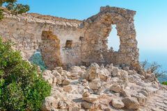 Monolithos ruins. Rhodes, Greece Royalty Free Stock Image