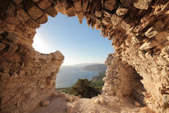 Monolithos, west coast of Rhodes island, Greece Royalty Free Stock Image