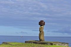 monolitiska statyer chile för mänsklig moai Arkivbild