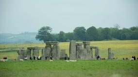 Monolitiska stenar England för stenhenge lager videofilmer