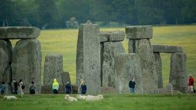 Monolitiska stenar England för stenhenge arkivfilmer