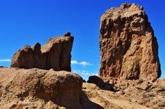 Monolito de Roque Nublo en Gran Canaria, España Foto de archivo