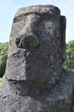 Monolito del maoi de la cabeza de la isla de pascua Imagen de archivo libre de regalías