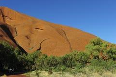 Monolito della roccia di Ayers Fotografie Stock