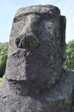 Monolito di maoi della testa dell'isola di pasqua Immagine Stock Libera da Diritti