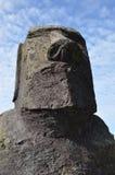 Monolito di maoi della testa dell'isola di pasqua Immagini Stock Libere da Diritti