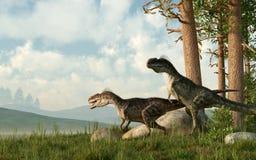 Monolophosaurus ilustração stock