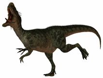 Monolophosaurus-3D Dinosaur Royalty Free Stock Photo