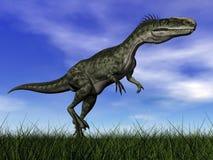 Monolophosaurus dinosaur - 3D render Stock Photography