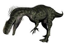 Monolophosaurus dinosaur - 3d render Royalty Free Stock Photography