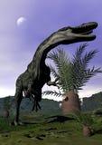 Monolophosaurus dinosaur roaring - 3D render Royalty Free Stock Photo