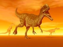 Monolophosaurus dinosaurs- 3D Render Stock Photo