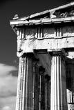 Monomarmorsäulen und Giebel des Parthenons Lizenzfreie Stockfotos