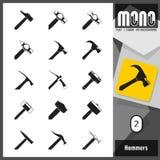 Monopictogrammen - Hamers 2 stock illustratie