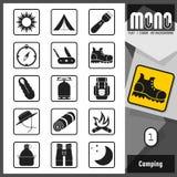 Monopictogrammen - Kamperende 1 royalty-vrije illustratie