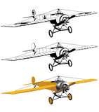 Monoplane black and color Royalty Free Stock Photography