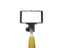 Monopod ручки Selfie Стоковые Фото