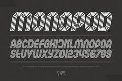 Monopod stock abbildung