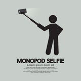 Monopod Selfie Self Portrait Tool For Smartphone. Vector Illustration Stock Photos