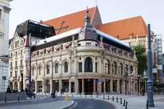 The Monopol Hotel in Wroclaw, Poland. The Monopol Hotel is a five-star hotel. It was built in 1892 in Art Nouveau and Neo-Baroque styles. Hotel has two royalty free stock photo