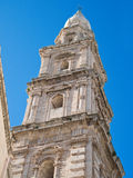 monopoli καθεδρικών ναών apulia belltower Στοκ εικόνες με δικαίωμα ελεύθερης χρήσης