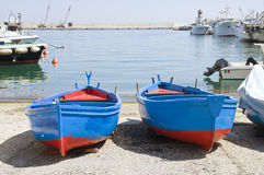 Monopoli Old Port. Apulia. Royalty Free Stock Photo