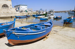 Monopoli Old Port. Apulia. Royalty Free Stock Images