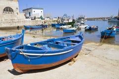 Monopoli Old Port. Apulia. Royalty Free Stock Images