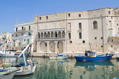 Monopoli Old Port. Apulia. Stock Photos