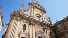 Monopolikathedraal anders de Basiliek van Madonna-della Madia, Monopoli, Italië stock foto's