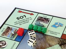 Monopoly hotels and houses gaming success stock images