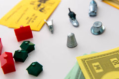 Monopoly board game in play Stock Photos