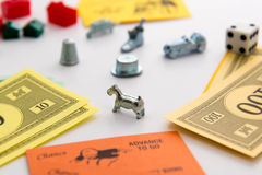 Monopoly board game in play Royalty Free Stock Photography