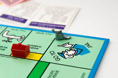 Monopoly board game in play Stock Images