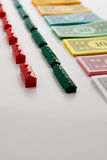 Monopoly board game in play Stock Image